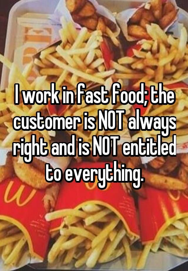 Fast Food Workers Job Whisper Confessions