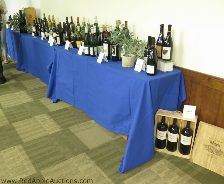 Live auction lots at a wine auction.