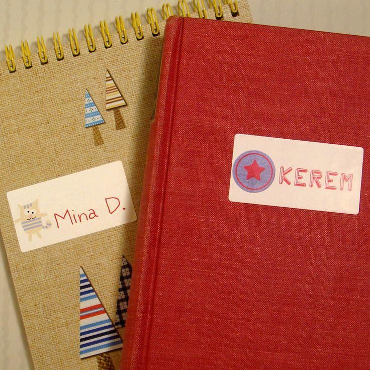 Çocuğunuzun defter ve kitaplarını kolayca etiketleyin! http://isimetiketleri.com #isimetiketi