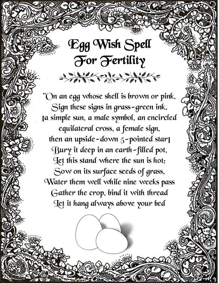 An egg wish spell for fertility.