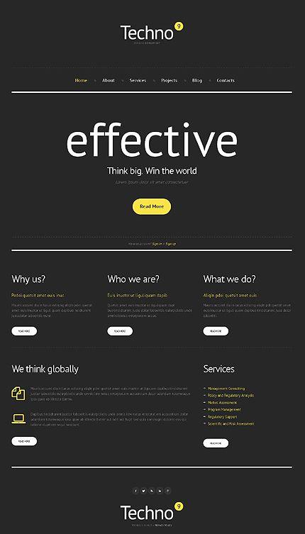 Monochrome Business Management WordPress Theme