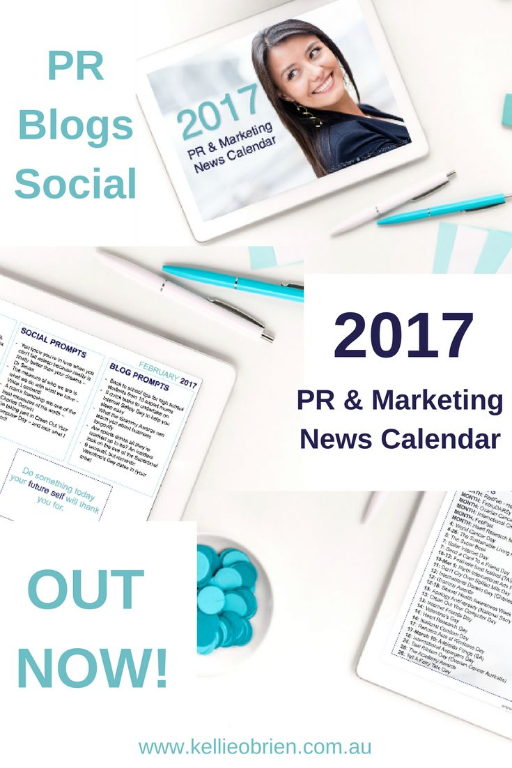 Grab your 2017 Public Relations and Marketing News Calendar to better plan your PR, blogs and social media content marketing using evergreen story hooks. Make 2017 your best year yet