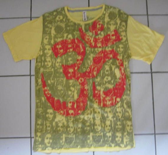 AWESOME  Cotton T Shirt With OM Symbol by isoleynz on Etsy