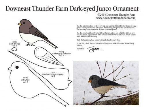Dark-eyed Junco Pattern