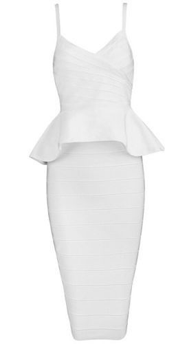 Alley White Two-Piece Bandage Dress