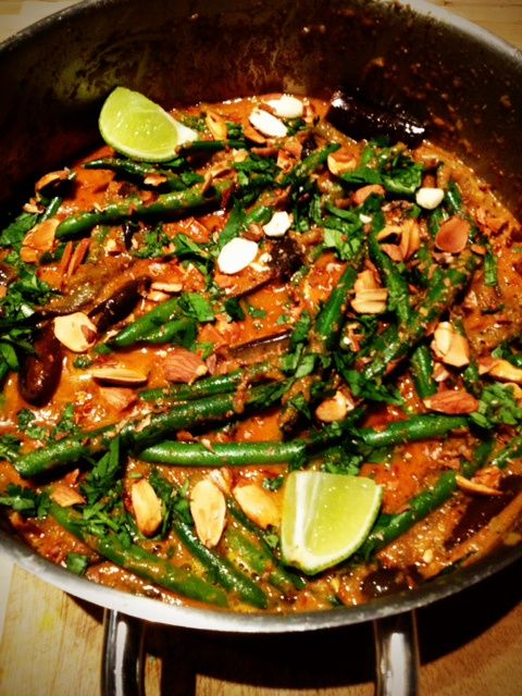 Eggplant and green bean curry | vegetables | Pinterest