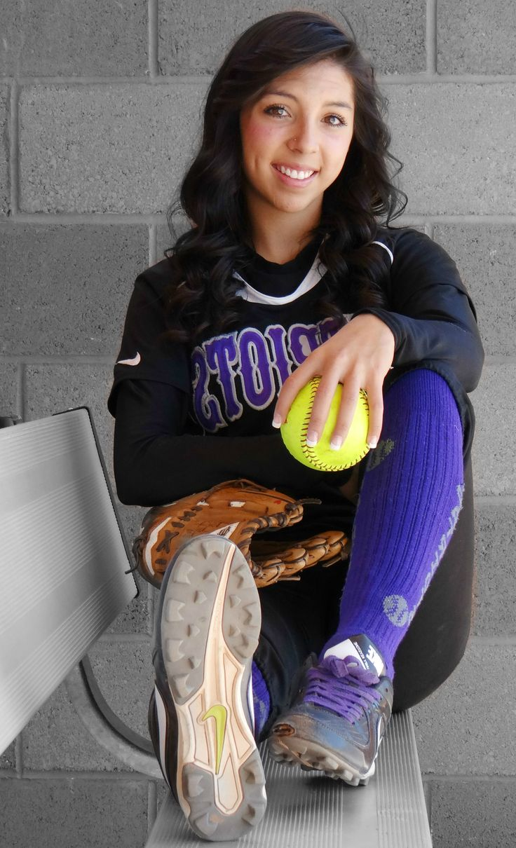 Softball senior picture. My attempt
