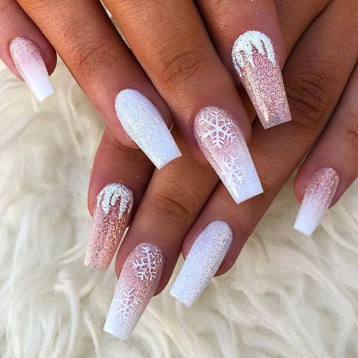 Christmas Nails Not Acrylic: 60 Simple Acrylic Coffin Nails Designs Ideas For 2019