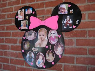 mini mouse collage...Ren's 1st birthday - if I have a girl this is a great idea