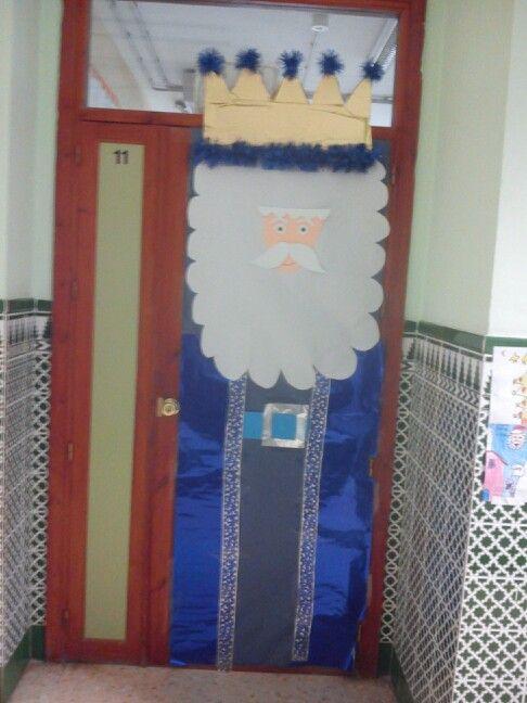Decoraci n navide a de puerta ambientaci n aula e murais - Decoracion de unas para navidad ...