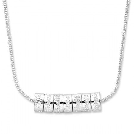 Sterling Silver Lucky Rings Necklace. Sku: ES191000