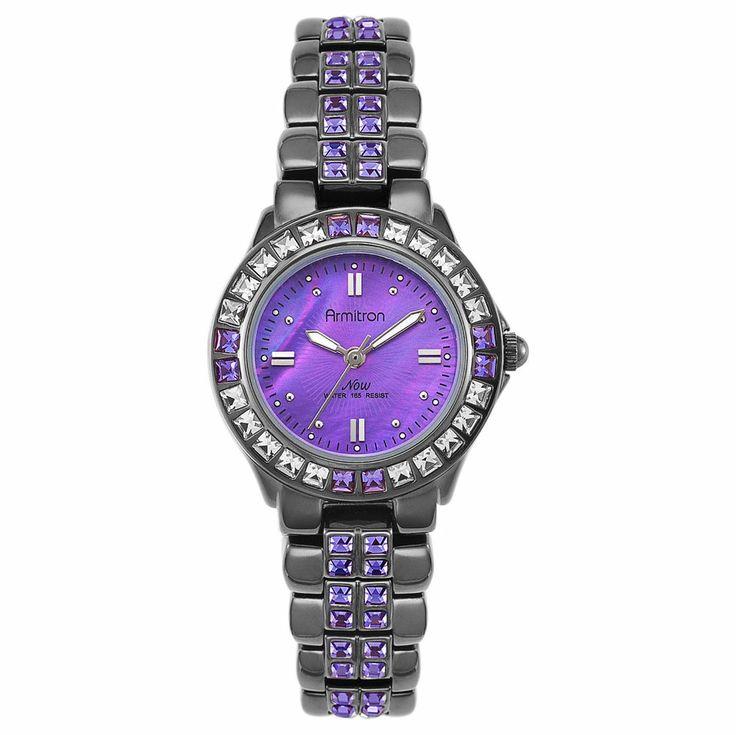 HOT SALE! Armitron Women's Bracelet Watch Swarovski Crystal Water Resistant