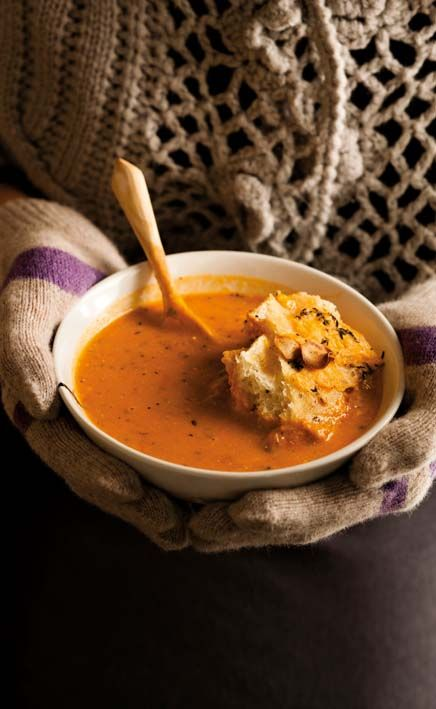Roasted tomato soup, ahhhh..dip your bread.