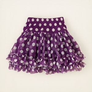 polka dot tutu skirt... Just what she needs for her big day on Sunday.. The big TWO!!