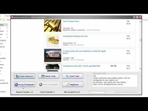 Divulga Chat OLX   divulgar na olx  Realize o download da versão de demonstração. http://mon.net.br/9275  O site de classificados OLX está se tornando cada vez mais popular a cada dia, e já é possível encontrar lá o público alvo correspondente ao seu produto ou serviço.