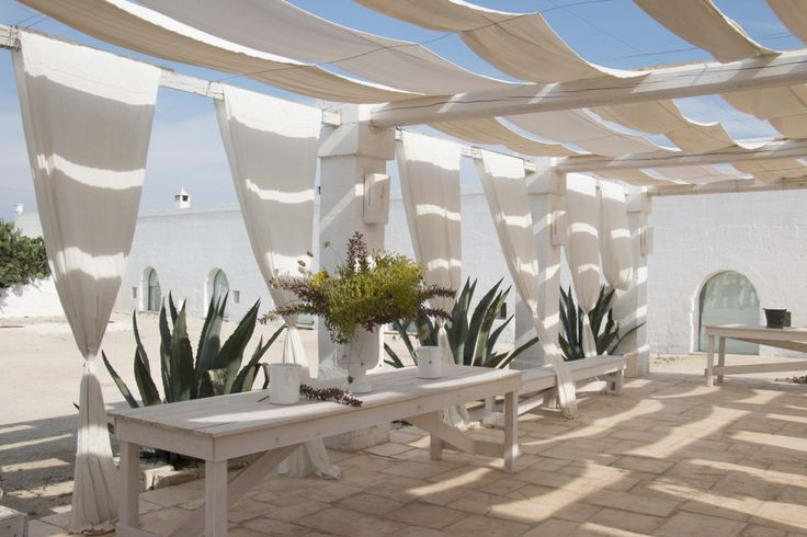 Outdoor of a masseria in Italy .