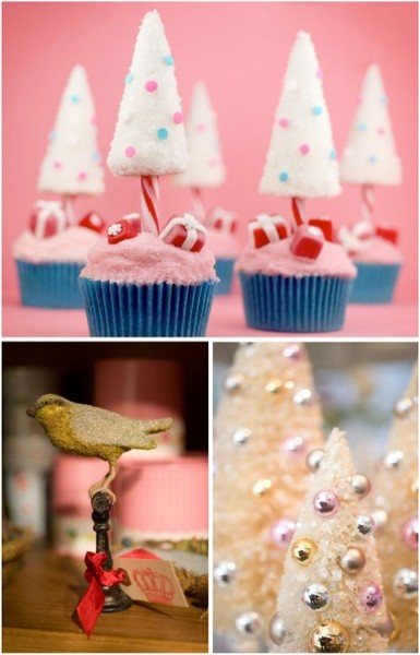 Decorated christmas trees desserts and ornaments holiday-decorating