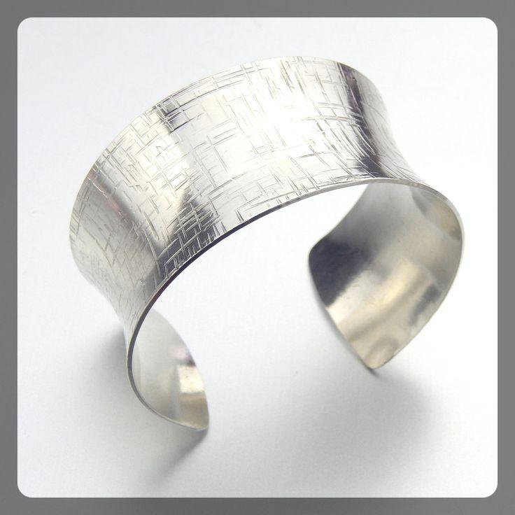 Sterling Silver Anticlastic Cuff Linen by MaryeBrenda.com $186