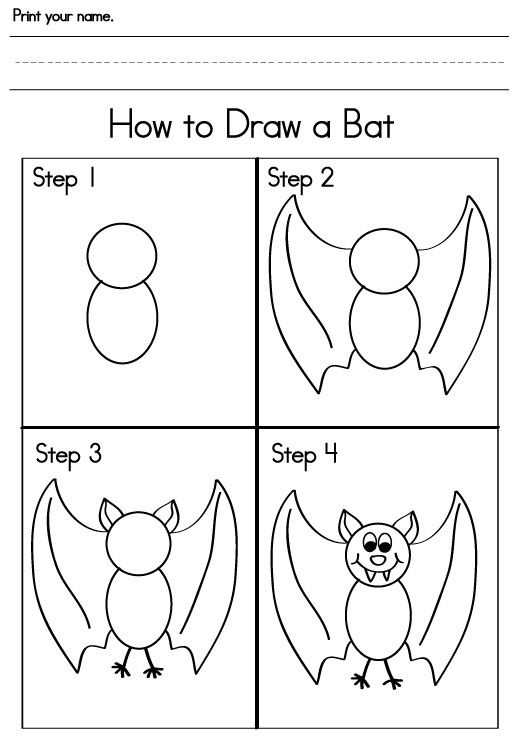 How to draw a bat and other activities.