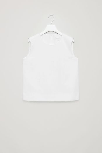 COS image 2 of Boxy vest top in White