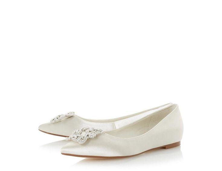 Dune Dune London Bridal Exclusive Briella Embellished Flat Shoes y0CUaWK10