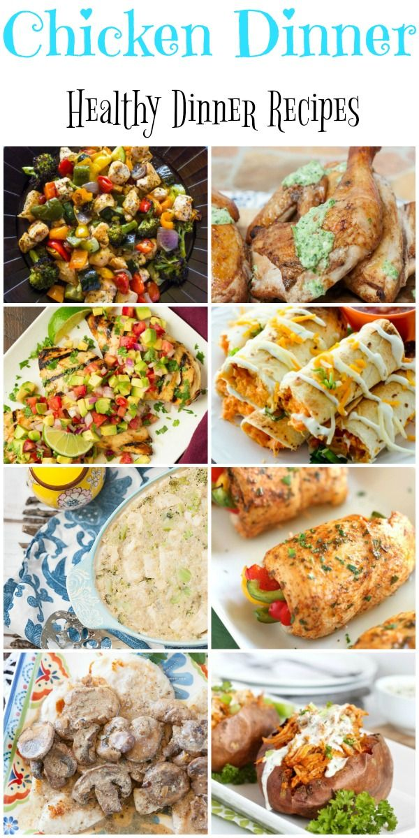 "Wondering what to do with the chicken in your freezer? Check out these healthy chicken recipes that will solve the question ""What is for Dinner?""."