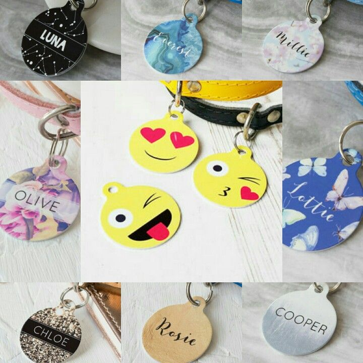 New personalised dog tags at www.dogaccessoriesonline.co.uk Love these.