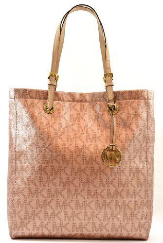 MICHAEL Michael Kors Handbag Signature Metallic North South Tote (Rose Gold) MICHAEL Michael Kors http://www.amazon.com/dp/B00GP8GW44/ref=cm_sw_r_pi_dp_EV4Otb0PX2Q4M07H