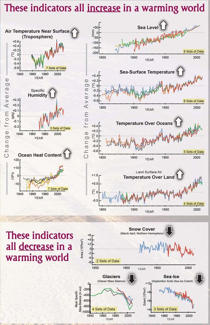 There are several indicators of global warming