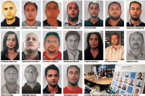 La Mafia  e`anche in tua citta       *       Die Mafia ist auch in deiner Stadt  : Patinnen der 'Ndrangeta-Clans Gioia Tauro verhafte...