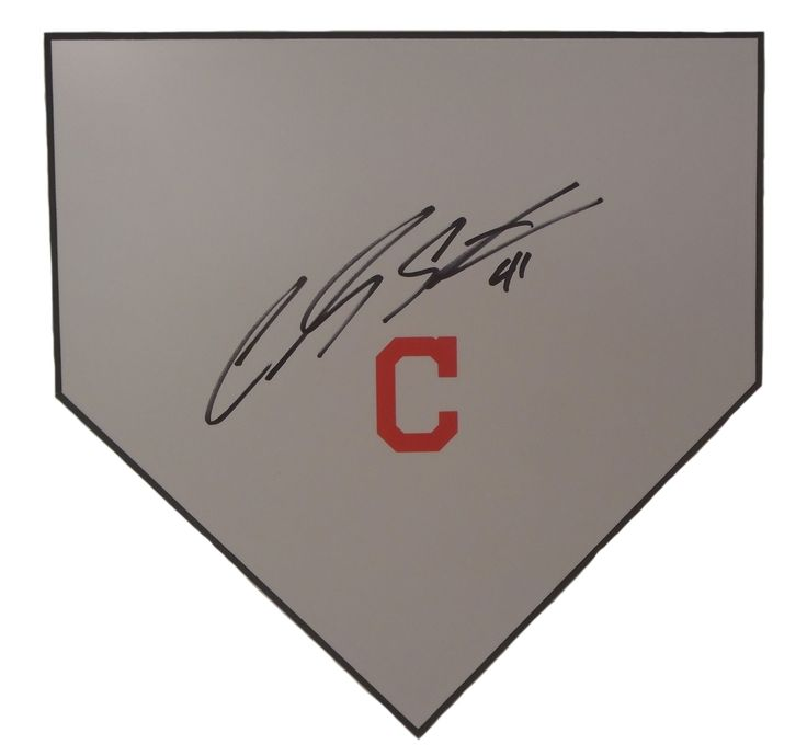 Cleveland Indians Carlos Santana signed baseball home plate w/ proof photo.  Proof photo of Carlos signing will be included with your purchase along with a COA issued from Southwestconnection-Memorabilia, guaranteeing the item to pass authentication services from PSA/DNA or JSA. Free USPS shipping. www.AutographedwithProof.com is your one stop for autographed collectibles from Cleveland sports teams. Check back with us often, as we are always obtaining new items.