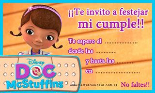 Doctora Juguetes - Tarjetas de cumpleaños para imprimir