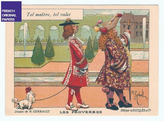 Ancienne Chromo Ricqles Annees 1910 Illustrateur Gerbault Trading Cards Vintage Victorian