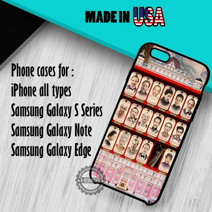 The Grand Budapest Hotel Cast iPhone 7 7  6s 6 SE Cases Samsung Galaxy S7 edge S6 S5  NOTE 7 5 4 3