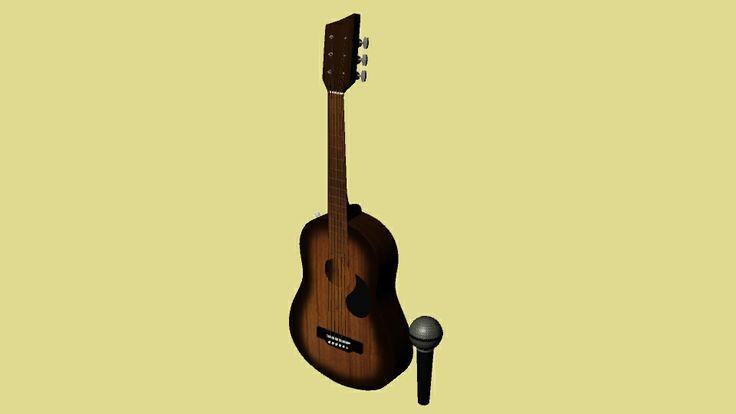 Logo Facultad de Música - Perspectiva 2. Modelado y texturizado por Kelly Huidobro