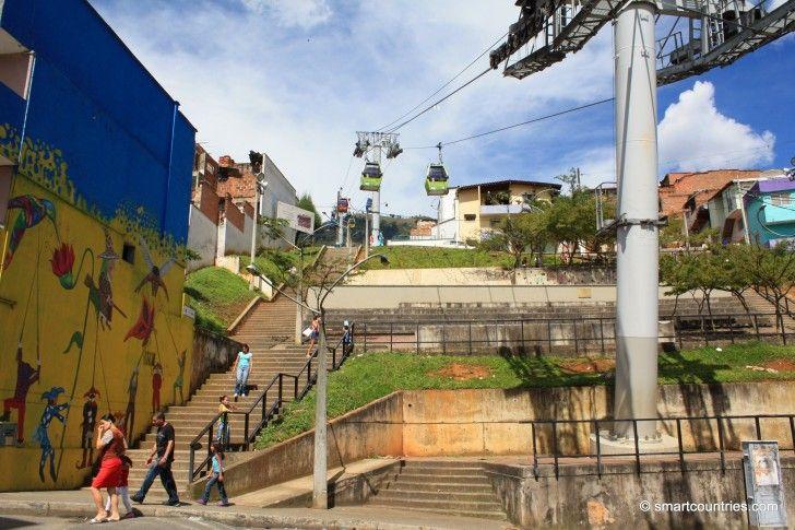 Metro Cable in Medellin, Colombia.
