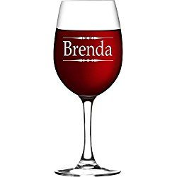 Personalized Engraved Wine Glass with ANY text - Bridesmaid Gifts