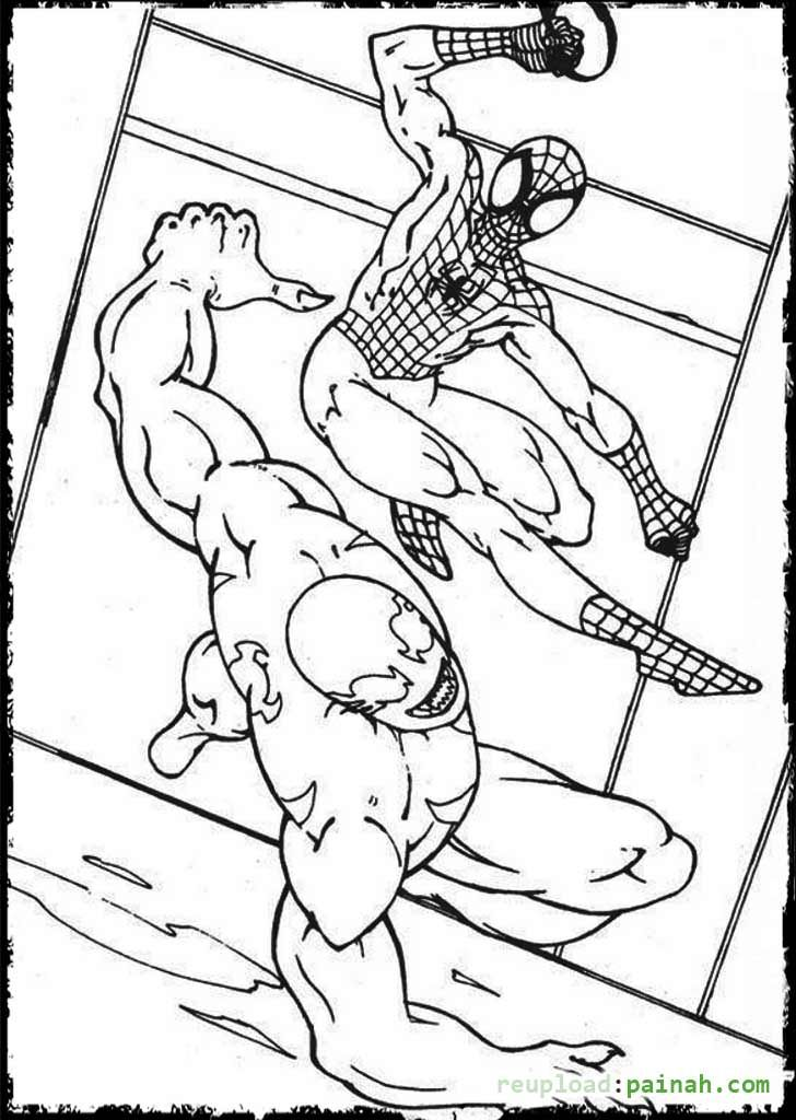 Spiderman And Venom Bunny Coloring Pages Cartoon Coloring Pages