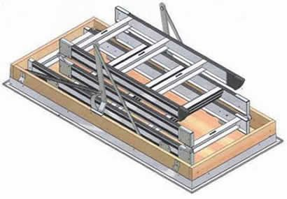 Attic stairs, ladders for attics, access ladders, attic access, roof access - safe, easy, simple to install to utilize ceiling space, AM-BOSS Access Ladders