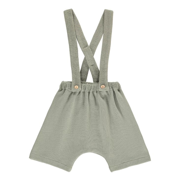 Chelsea Organic Cotton Shorts with Removable Braces Omibia Baby- A large selection of Fashion on Smallable, the Family Concept Store - More than 600