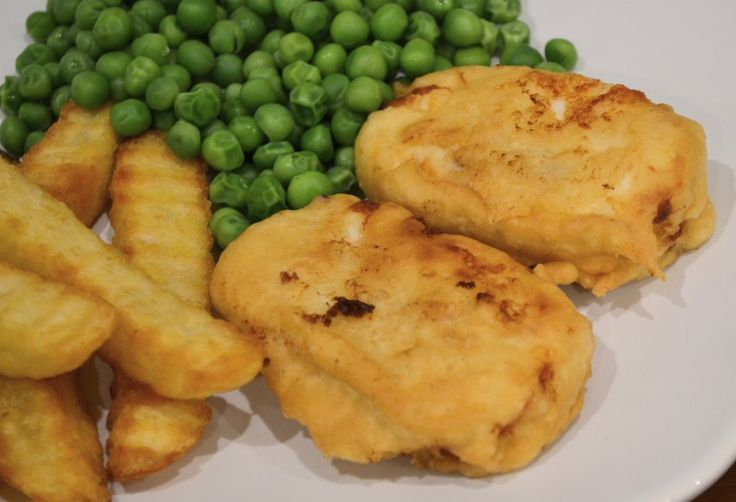 Vegetarian battered halloumi. Cheap, quick and easy to make and much nicer than the one from the chippy. You don't even need a deep fat fryer.