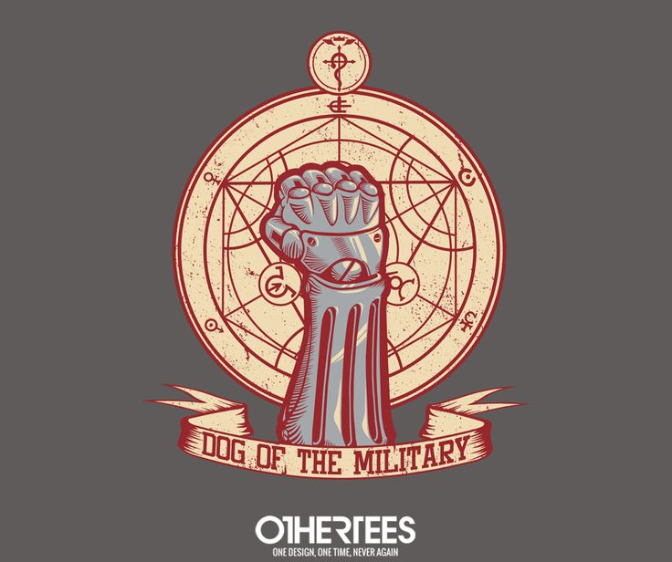 """Dog of the Military: Full Metal"" by Latvilous T-shirts, Tank Tops, V-necks, Sweatshirts and Hoodies are on sale until March 6th at www.OtherTees.com #fullmetalalchemist #anime #manga #othertees"