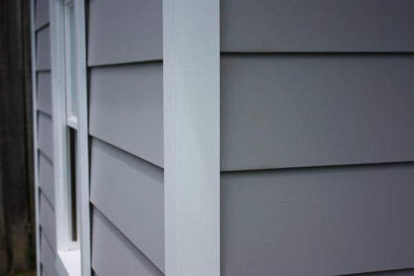 weatherboard cladding & corner detail