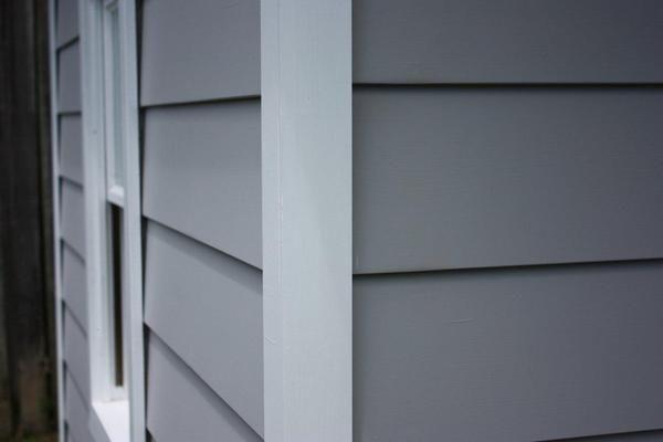 weatherboard cladding & corner detail