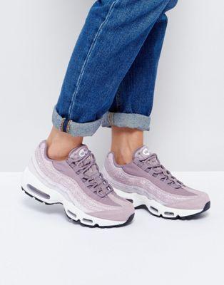 Nike Premium Air Max 95 Trainers In Purple