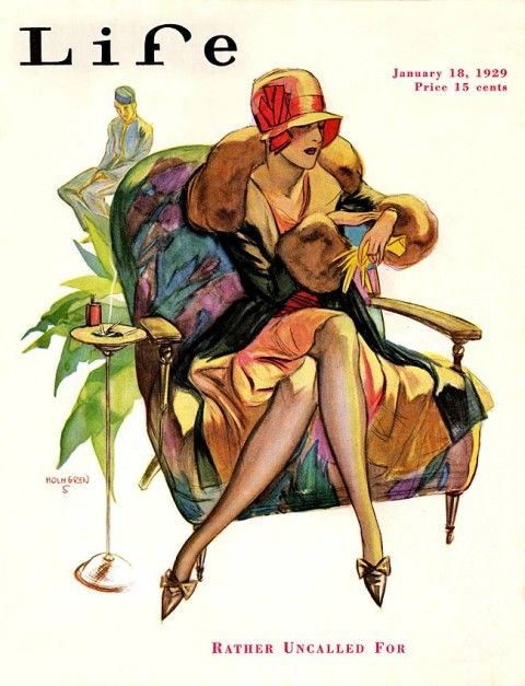 Vintage Life Magazine -  January 1929 - Waiting in the lobby.
