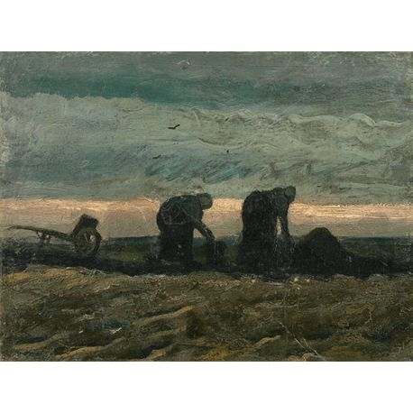 Reprodukcje obrazów Vincent van Gogh Women on the Peat Moor - Fedkolor