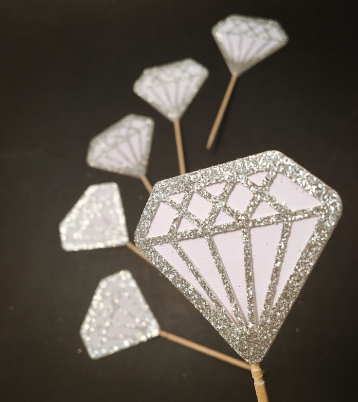 This is just simply elegant and pure. These Lovely, Elegant, Luxurious Diamond Cupcake / Donut Toppers  are perfect for Engagement Parties, Bridal Showers, Weddings, Birthday Parties, Theme Parties and many more! Have a wonderful memorable event like Diamond, which lasts Forever! $4.75 #diamond #diamondtopper #cupcaketopper #caketopper #bridalshowerdecor #weddingdecor #birthdaytopper #weddingdiamond