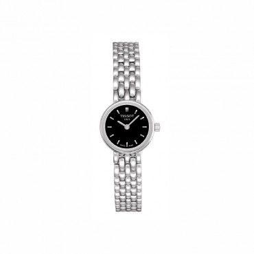 T0580091105100 Μικρό θηλυκό γυναικείο ρολόι TISSOT LOVELY σε μαύρο καντράν και ατσάλινο μπρασελέ | Ρολόγια TISSOT στο Χαλάνδρι ΤΣΑΛΔΑΡΗΣ