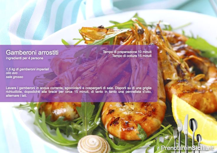 Questa Domenica Gamberoni arrostiti! https://www.prenotareinsicilia.it/ristoranti-in-sicilia.html?utm_content=buffera4359&utm_medium=social&utm_source=pinterest.com&utm_campaign=buffer Buon appetito da PrenotareinSicilia.it